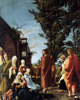 Albrecht Altdorfer. The farewell of Jesus Christ with his Mother