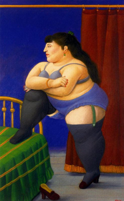 Fernando Botero. Bedroom