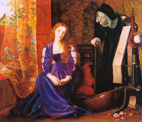 Arthur Hughes. Heart hurts (Juliet and her nanny)