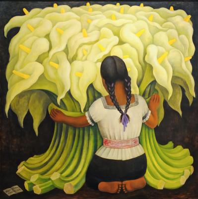 Диего Мария Ривера. Цветочница