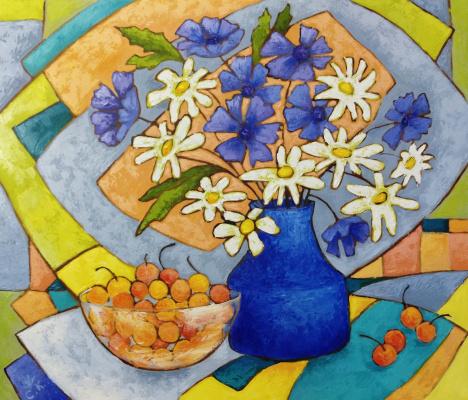 Svetlana Konstantinova. Still Life with Sweet Cherry