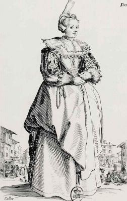 Жак Калло. Дама в маленькой шляпе