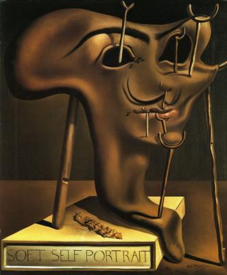 Salvador Dali. Soft self portrait