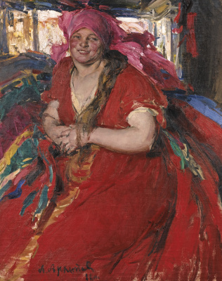 Abram Arkhipov. The woman in the red dress