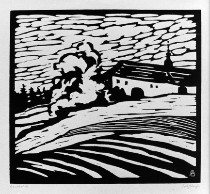 Fritz Bleuil. Landscape