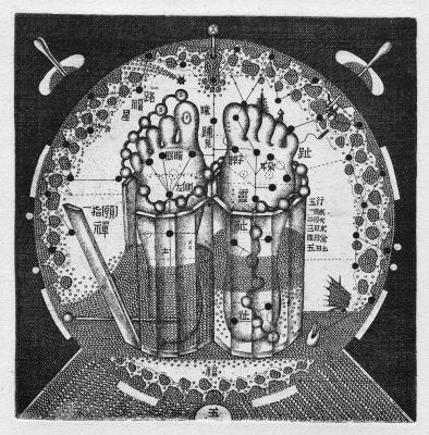 Alexander Aksinin. The Buddha's Feet. Ex Libris Of Boris Left