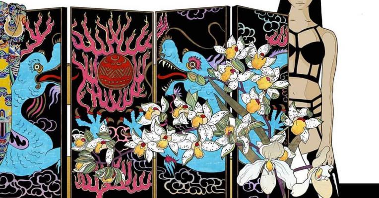 "Ekaterina Belyavskaya. Screen. ""Thirteen Orchids for the Empress"""