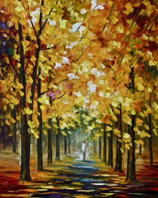 Leonid Afremov. Golden autumn
