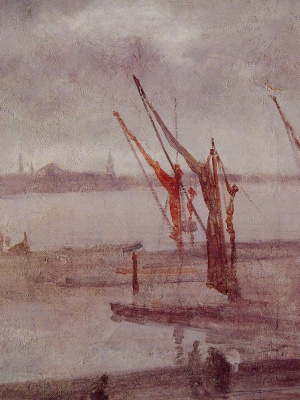 James Abbot McNeill Whistler. Chelsea Wharf: Grey and silver