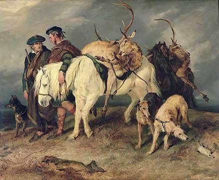 Edwin Henry Landseer. The return of the deer hunters