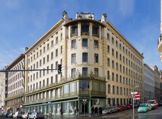 Otto Wagner. Wienzeilenhäuser, apartment building at Linke Wienzeile no. 38