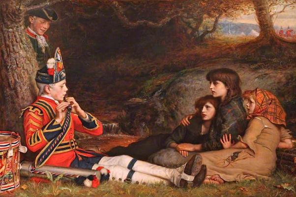 John Everett Millais. An idyll of 1745