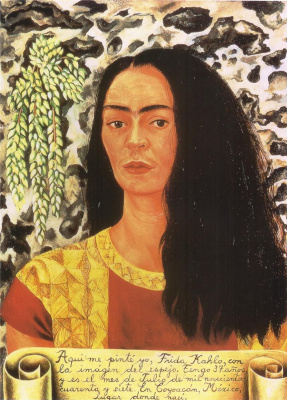 Frida Kahlo. Self-portrait with loose hair