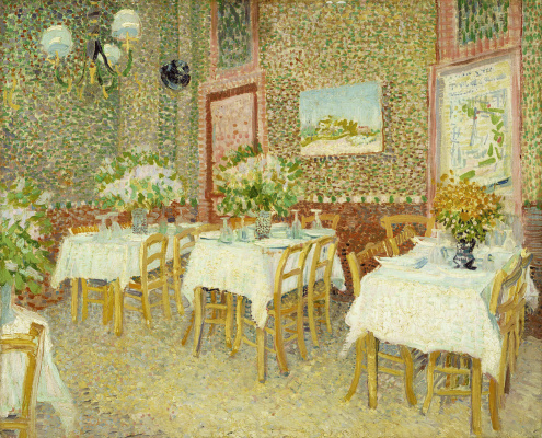 Vincent van Gogh. The interior of the restaurant
