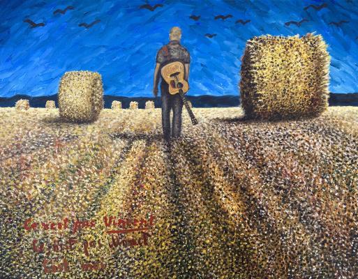 Julia Sergeevna Evtushenko. Wheat field with haystacks