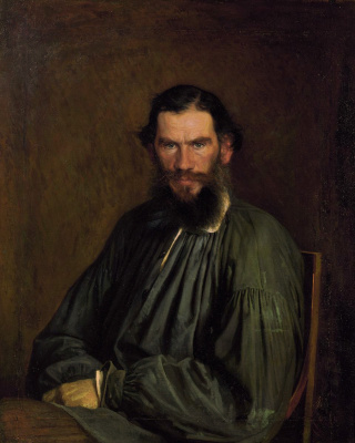 Ivan Nikolayevich Kramskoy. A portrait of the writer Leo Tolstoy