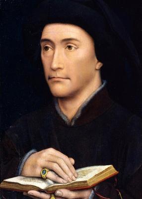 Rogier van der Weyden. A man holding a book