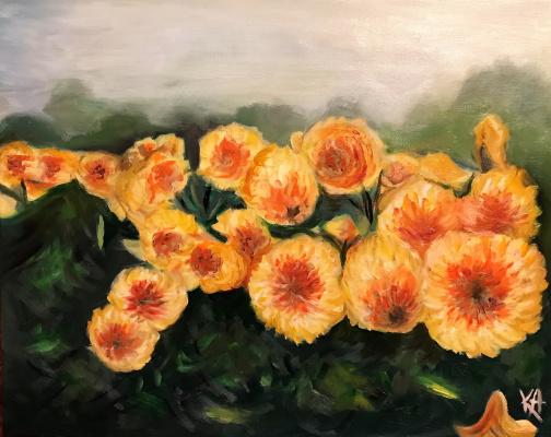 Ксения Андреевна Бахенская. Yellow flowers