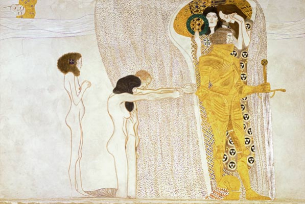 Gustav Klimt. Beethoven Frieze, the Thirst for happiness (fragment)