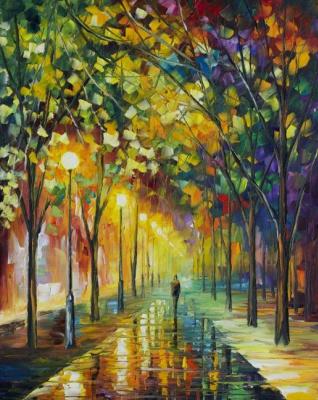 Leonid Afremov. Green dream