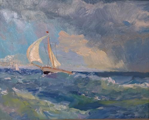 Victor Grigorievich Puzyrkov. A boat