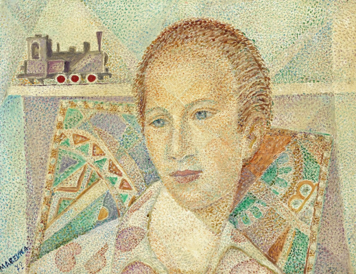 Maria Bronislavovna Marevna (Vorobyeva-Stebelskaya). Portrait Of Colin Eyre Phillips.1972