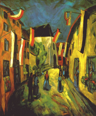 Erich Heckel. The day of corpus Christi in Bruges