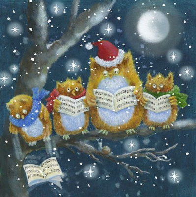 Jen Pashley. Owl, singing Christmas carols