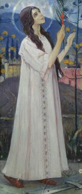 Mikhail Vasilyevich Nesterov. Great Martyr Barbara. The thumbnail image diakonia iconostasis of the Vladimir Cathedral in Kiev