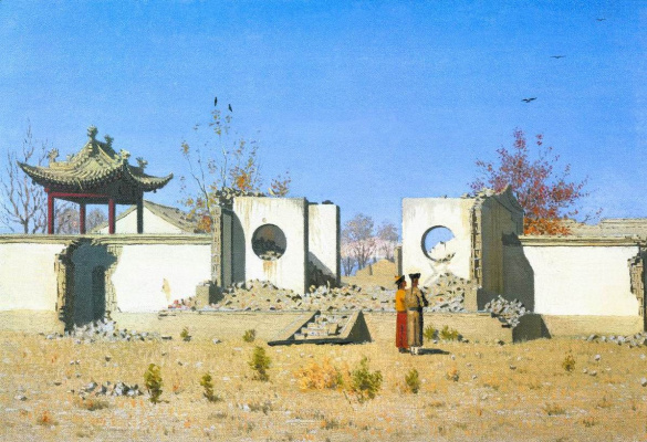 Vasily Vereshchagin. The ruins of the Chinese Joss-house. AK-Kent
