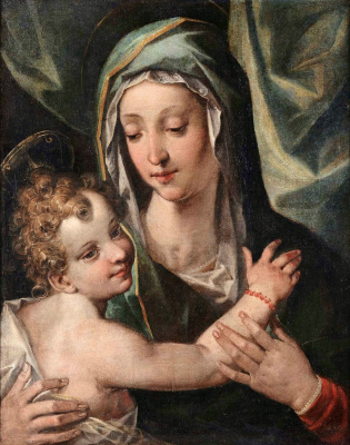 Cesari Giuseppe (Cavalier d'Arpino). The Madonna and child.