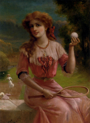 Emile Vernon. The girl in pink