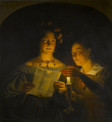 Petrus van Shendel. Fantasy by candlelight.