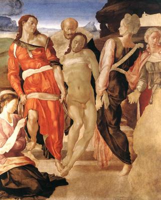 Michelangelo Buonarroti. Entombment