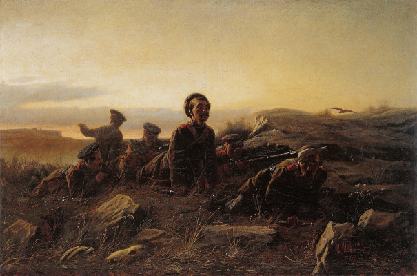 Vasily Grigorievich Perov. Scouts at Sevastopol