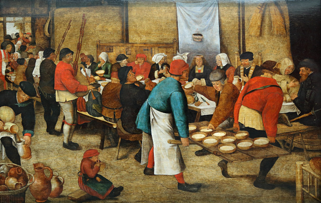 Peter Brueghel The Younger. The wedding feast in a barn