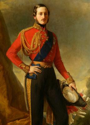 Franz Xaver Winterhalter. Prince albert, the Prince consort. Fragment