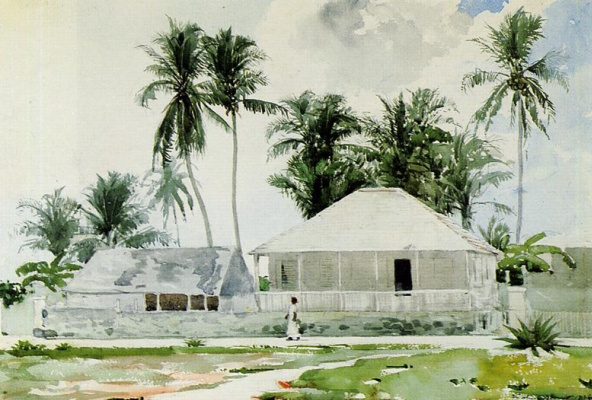 Winslow Homer. Cottages. Nassau