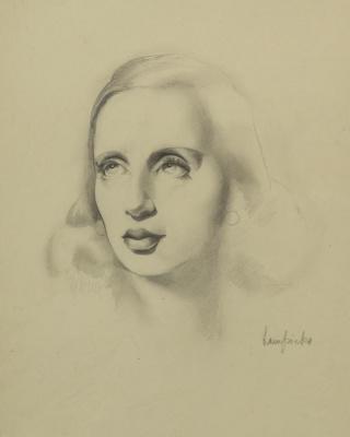 Тамара Лемпицка. Автопортрет