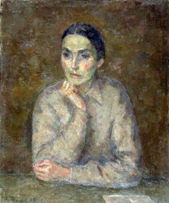 Robert Rafailovich Falk. Falk, R. R. portrait of the wife (A. V. Shchekin-Krotova in Sofrino)