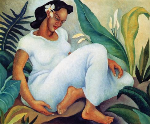 Корнелия Макинтайр Фоли. Гавайская женщина в белом