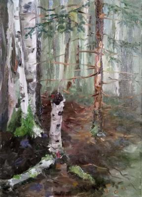Christina Shchekina. Forest. Etude