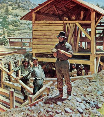 Гарольд фон Шмидт. Обнаружение золота
