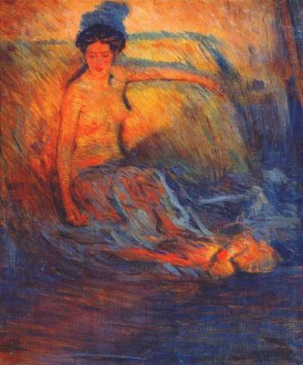 Nikolay Alekseevich Kasatkin. Nude model