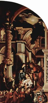 Ганс Гольбейн Младший. Алтарь Ганса Оберрида в кафедральном соборе Фрайбурга. Правая створка