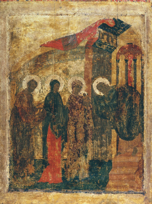 Andrey Rublev. Candlemas from the festive rite of the Annunciation Cathedral