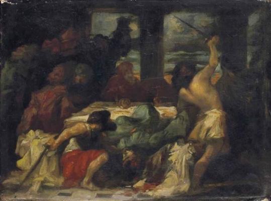Эжен Делакруа. Убийство Агамемнона