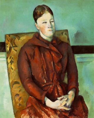 Поль Сезанн. Дама в желтом кресле