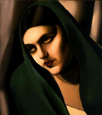 Тамара Лемпицка. Женщина в зеленой накидке