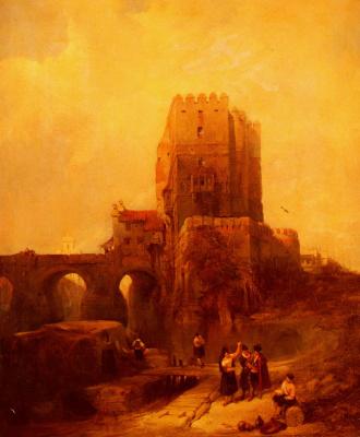 David Roberts. Moorish tower